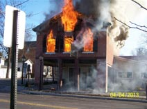 Milford, PA fire
