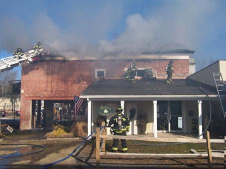 Milford business fire